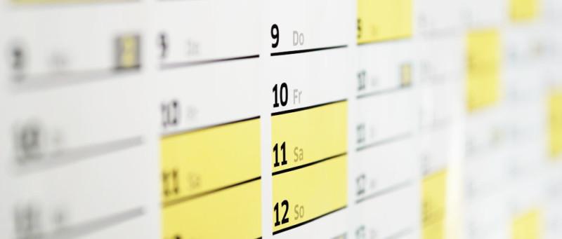 Federal Budget Calendar