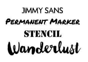 A flair font